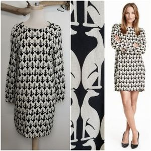 H&M mod greyhound dog print tunic dress